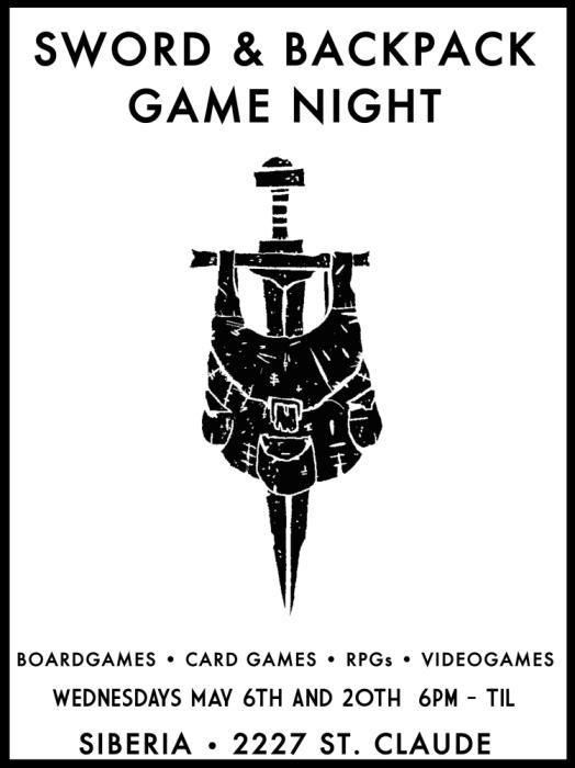 Sword & Backpack:  Siberia Game Night