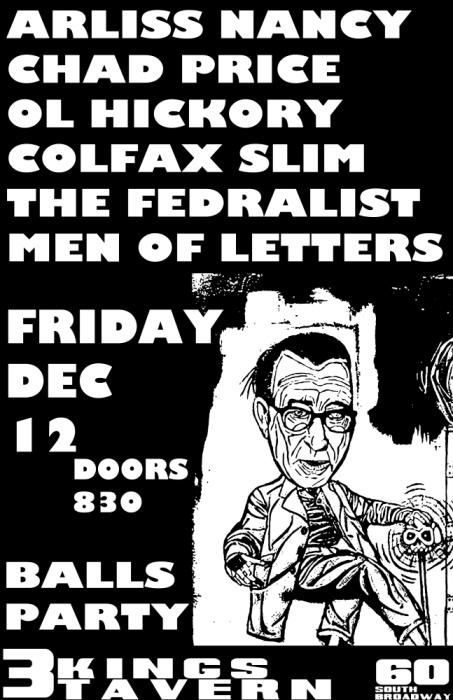 ARLISS NANCY, CHAD PRICE(ALL/DRAG THE RIVER), THE FEDERALISTS, COLFAX SLIM, OL HICKORY, MEN OF NUMBERS