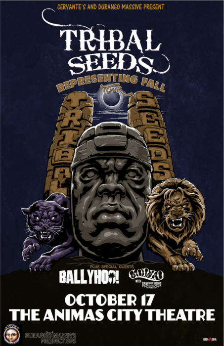 Representing Fall Tour ft Tribal Seeds w/ Ballyhoo! & Gonzo w/ Beyond I Sight