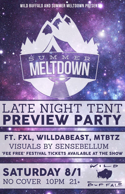 Summer Meltdown Late Night Tent Preview Party