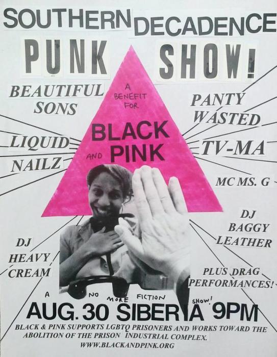 Decadence Punk Show: A Black & Pink Benefit