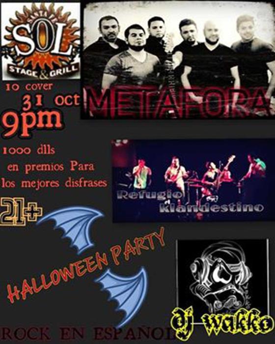 Halloween party M&J Santa Fe Sol presenta !!!! METAFORA ,REFUGIO KLANDESTINO,  DJ wakko