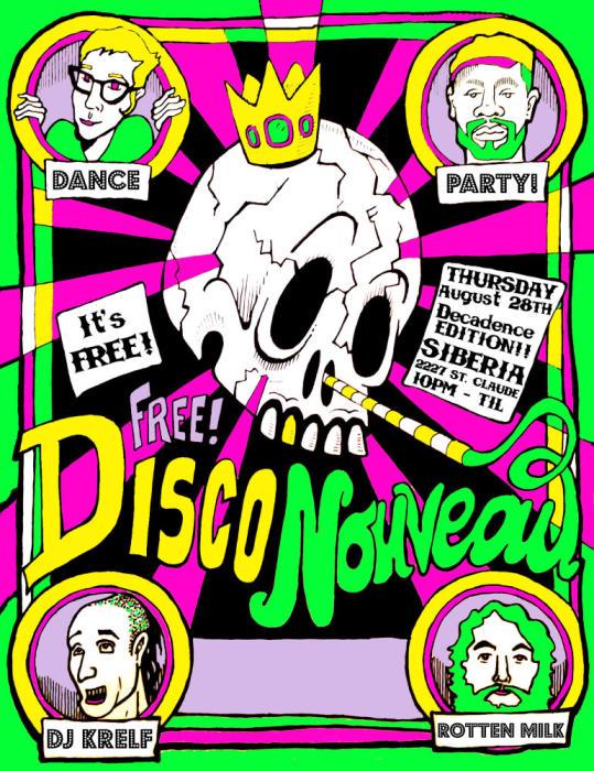 Disco Nouveau Dance Party: DJs Rotten Milk and Krelf