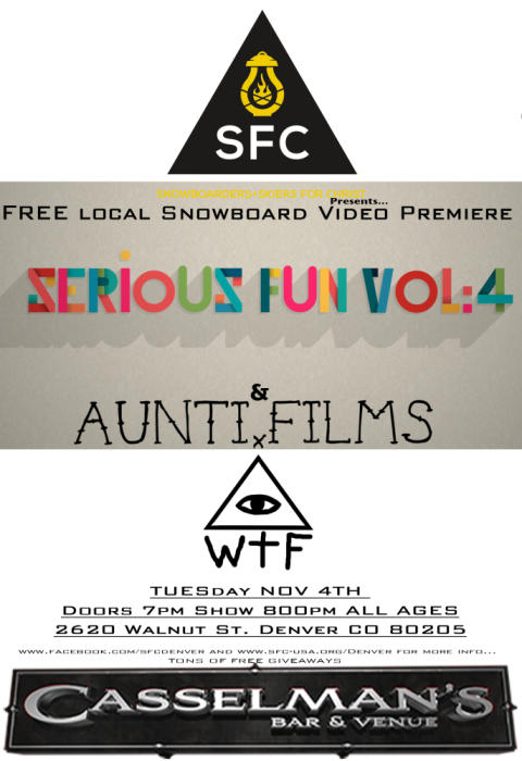 FREE Snowboard Local Video Premiere ($5 donation)