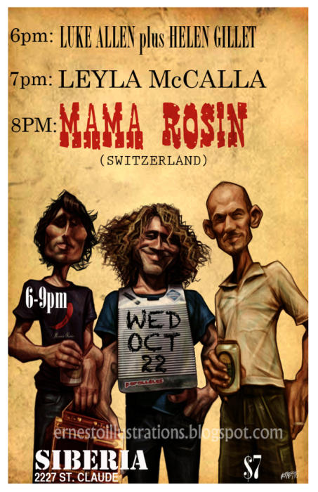 Mama Rosin (Switzerland) | Leyla McCalla | Luke Allen + Helen Gillet - EARLY SHOW!!!