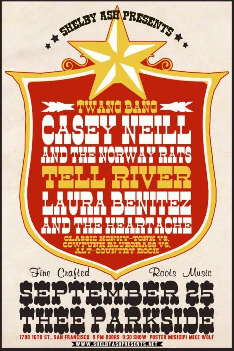 Casey Neil & The Norway Rats, Tell River, Laura Benitez and the Heartache