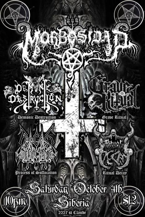 MORBOSIDAD -I- DEMONIC DESTRUCTION -I- GRAVE RITUAL -I- PROCESS OF SUFFOCATION -l- RITUAL DECAY