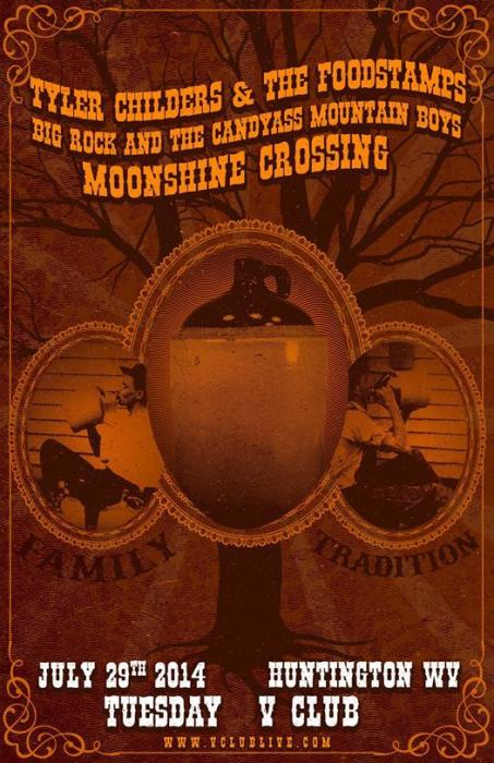 Tyler Childers & The Foodstamps / Big Rock & The CandyAss Mountain Boys / Moonshine Crossing