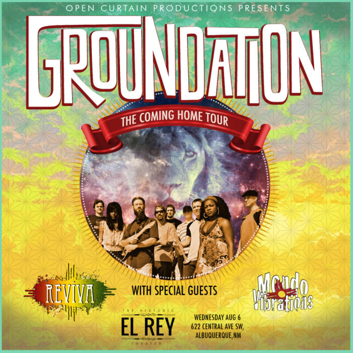 "GROUNDATION ""THE COMING HOME TOUR"""