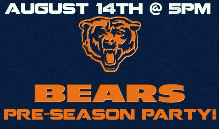 Chicago Bears Pre-Season Party