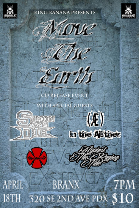 MOVE THE EARTH CD RELEASE