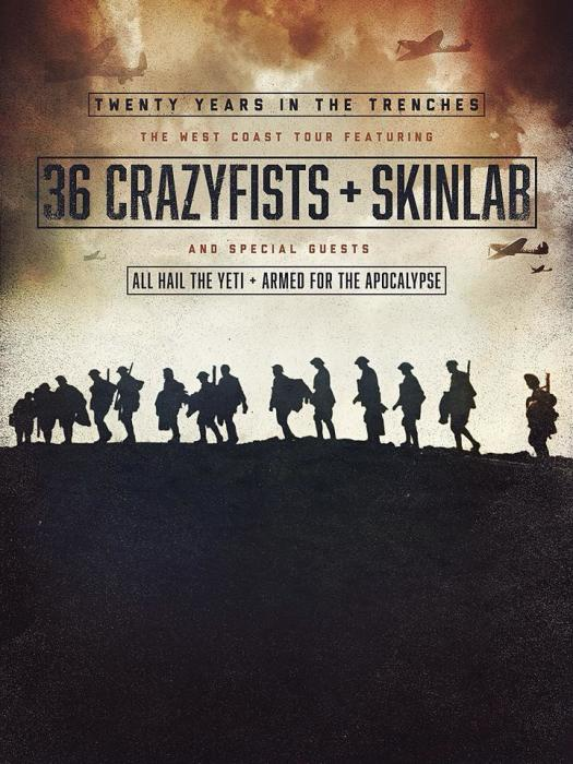 36 Crazyfists, Skinlab, Incite, All Hail the Yeti