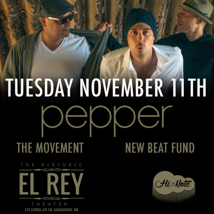PEPPER In Concert feat The Movement & New Beat Fund