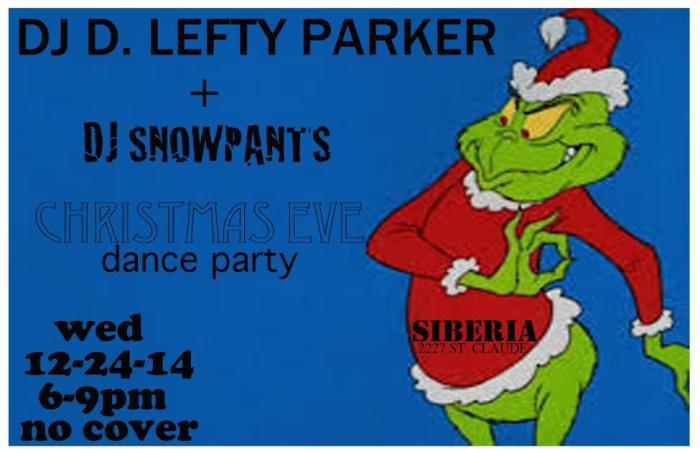 XMAS Eve Happy Hour w/ DJs D. Lefty Parker & Snowpants (Fensterstock)