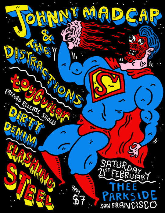 Johnny Madcap and the Distractions, toyGuitar (record release), Dirty Denim, Clashing Steel