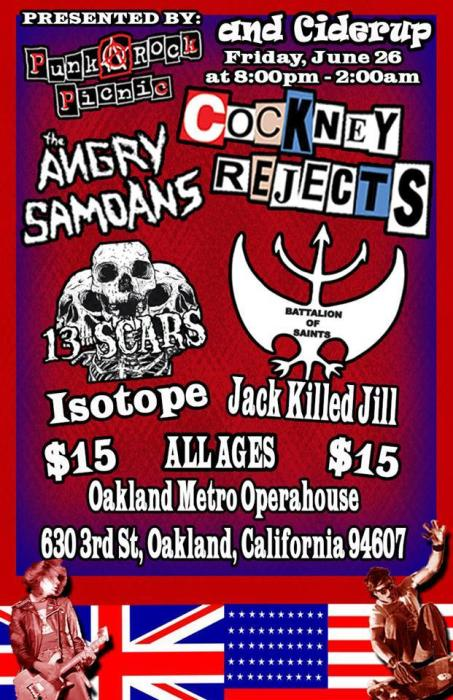 The Cockney Rejects - only northern California show