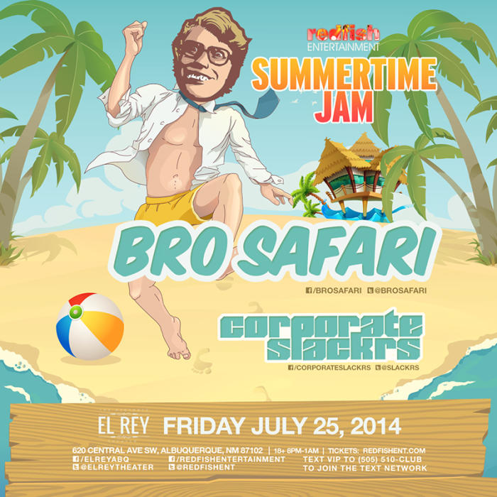 BRO SAFARI in Concert feat Corporate Slackers + Panda