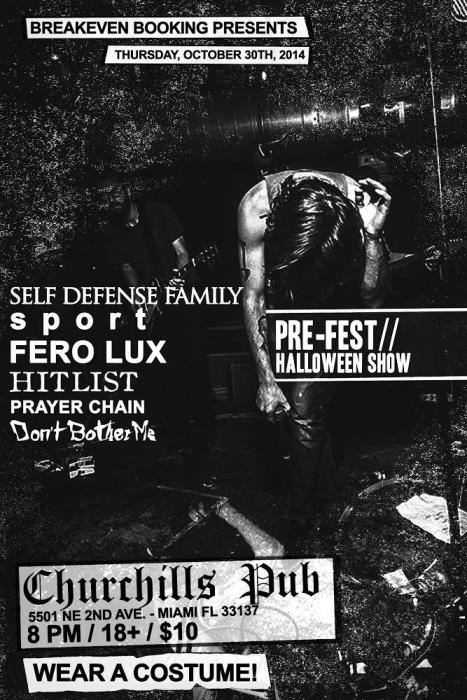 Breakeven Bookings Presents: Self Defense Family, Sport (France), Fero Lux, Prayer Chain, Hit List, Don
