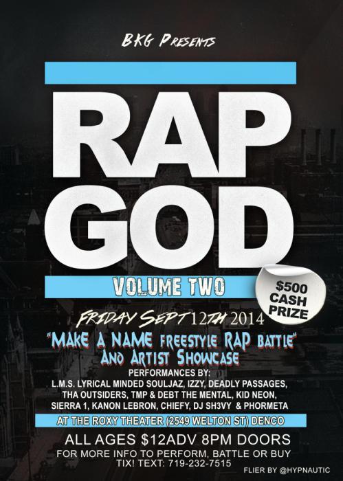 "The ""Make A Name"" Freestyle Rap Battle & Artist Showcase V.2"