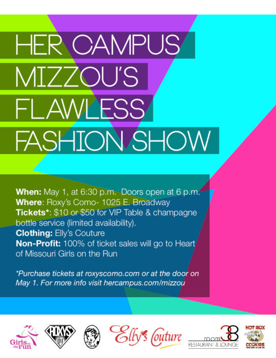 Her Campus Mizzou Flawless Fashion Show