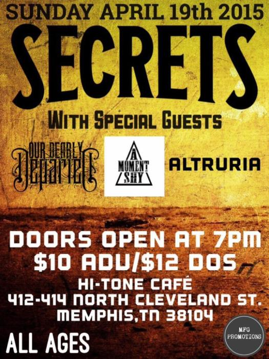 Secrets w/ Our Dearly Departed/A Moment Shy/Altruria
