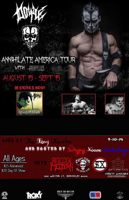 Annihilate America Tour Feat: Doyle Wolfgang Von Frankenstein formerly of The Misfits