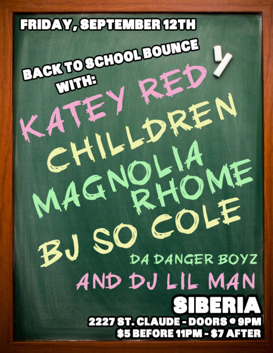 Back To School BOUNCE: KATEY RED | CHILLDREN | Magnolia Rhome | BJ So Cole | Da Danger Boys | DJ Lil Man