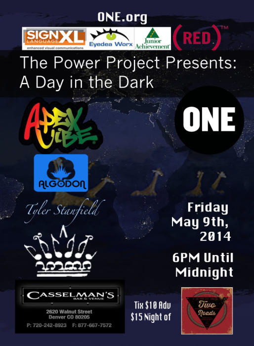 "ONE Night ONE ""Power""ful Project-  A DAY IN THE DARK--Featuring Rachel and The Kings, Apex Vibe, Tyler Stanfield and more"
