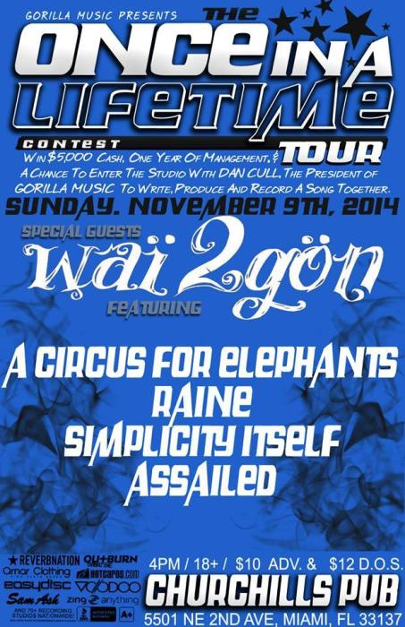 Wai2gon, A Circus for Elephants, Raine, Simplicity Itself, Assailed, and more!