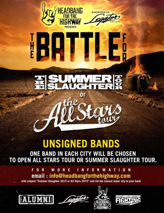 BATTLE FOR SUMMER SLAUGHTER & ALL-STARS TOUR 2015