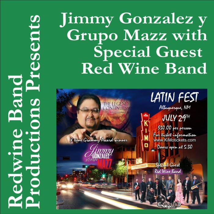8 Time Grammy Award Winner Jimmy Gonzalez y Groupo MAZZ
