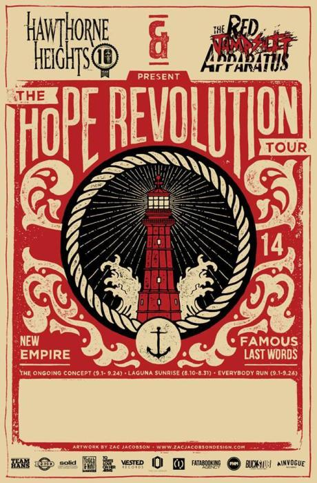 """Hope Revolution Tour"" Hawthorne Heights, Red Jumpsuit Apparatus"