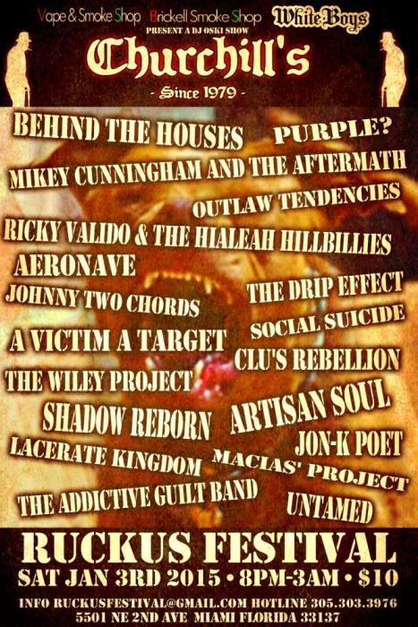 The Ruckus Festival - Over 20 Bands - 3 Stages