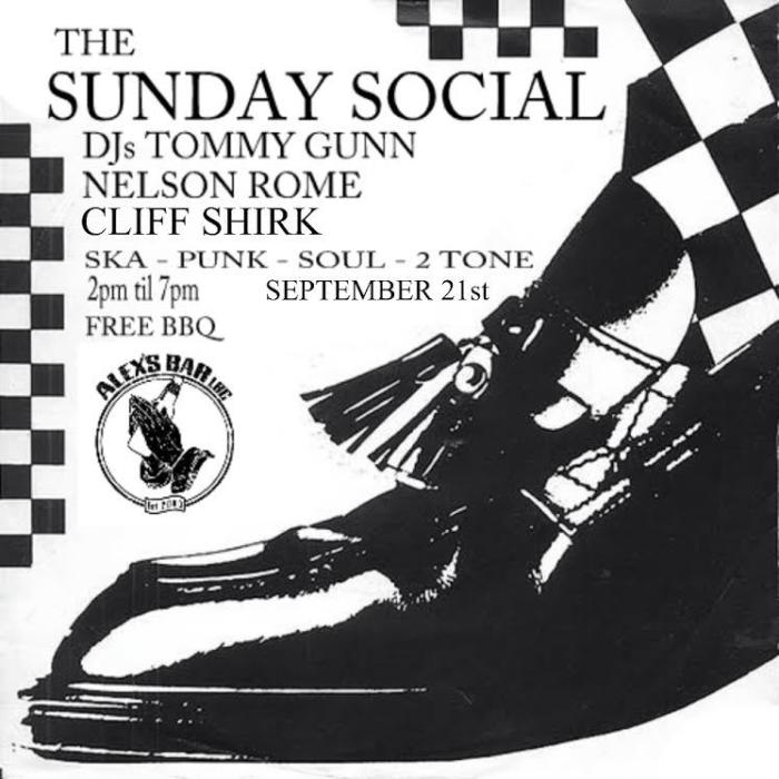 THE SUNDAY SOCIAL WITH DJ TOMMY GUNN AND SPECIAL GUEST DJS NELSON ROME AND CLIFF SHIRK