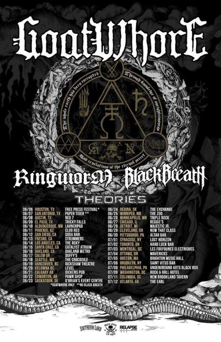 GOATWHORE, Black Breath, Ringworm, Theories, Your Enemy