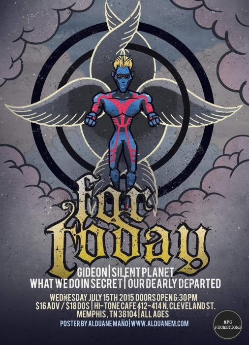 For Today w/ Gideon / Silent Planet / What We Do In Secret / Our Dearly Departed