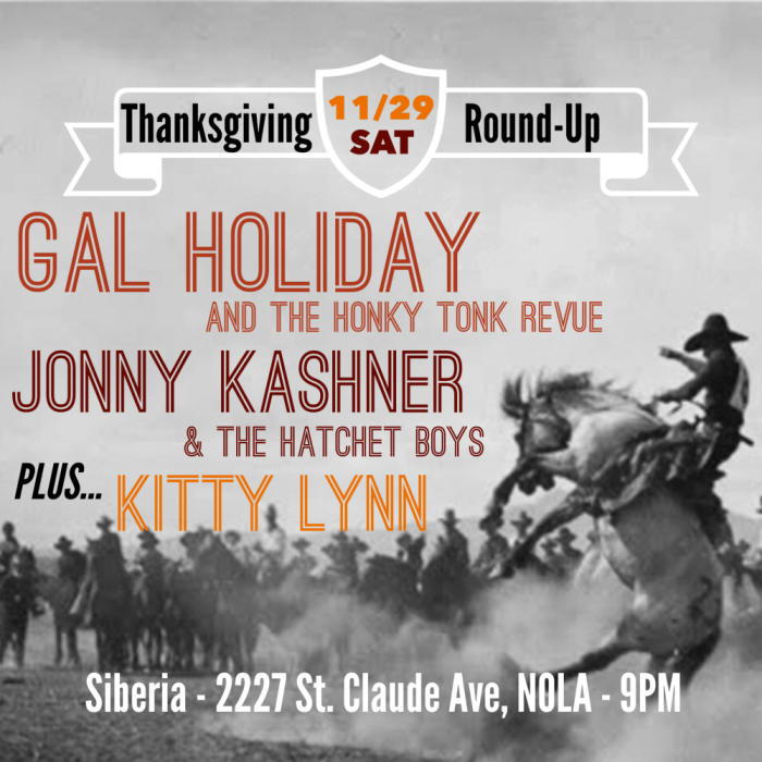 Gal Holiday and the Honky Tonk Revue | The Kitty Lynn Band | Jonny Kashner and the Hatchet Boys