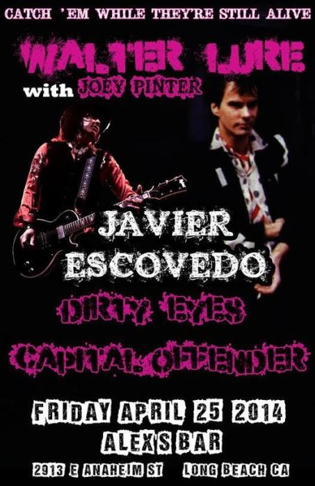 WALTER LURE (WITH JOEY PINTER), JAVIER ESCOVEDO, DIRTY EYES, CAPITAL OFFENDER