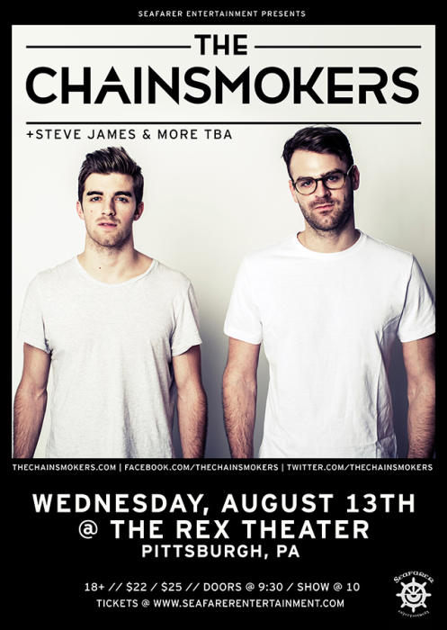 The Chainsmokers + Steve James