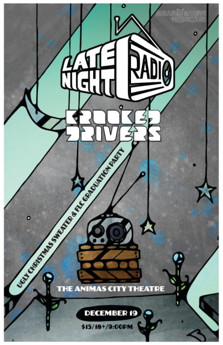 LATE NIGHT RADIO | KROOKED DRIVERS | UGLY CHRISTMAS SWEATER PARTY