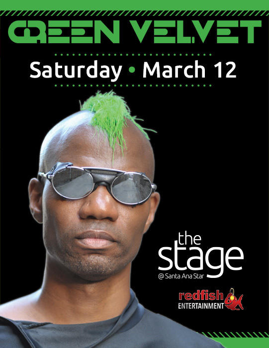18a19becf4 Green Velvet   The Stage at Santa Ana Star Casino Bernalillo