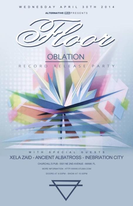 Floor (record release/tour kick off), Xela Zaid, Ancient Albatross, and Inebriation City