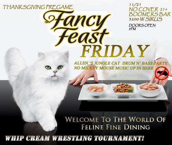 TEKNO KOMBAT Fancy Feast Friday ~ NO COVER