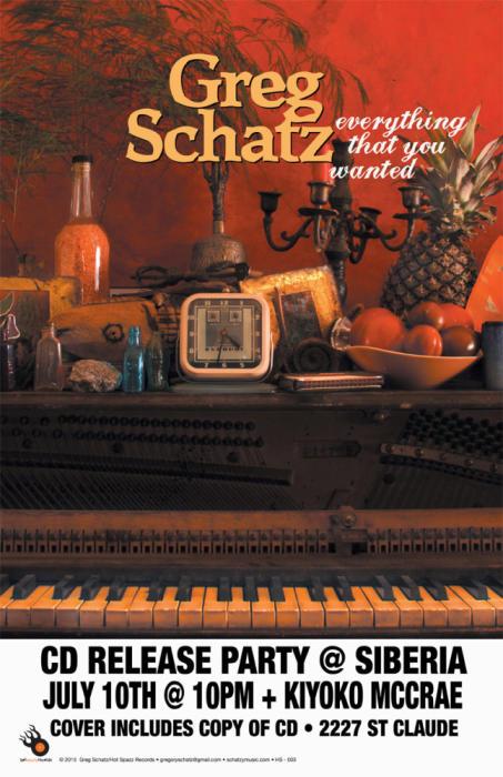 Greg Schatz and The Friggin Geniuses CD Release Party | Kiyoko McCrae