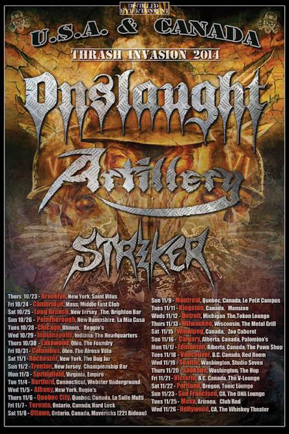 """Thrash Invasion 2014""; Onslaught, Artillery, Striker, Rutah"