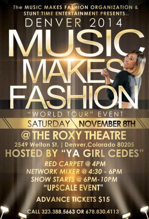 The Music Makes Fashion Event