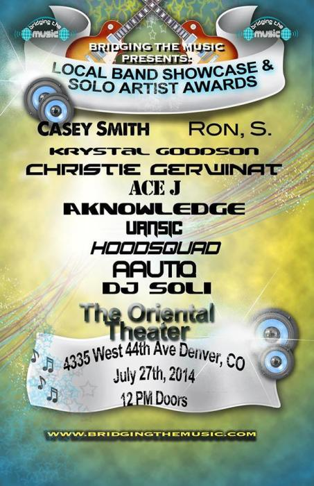 CO Solo Artist Awards & Local Showcase