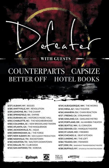 Defeater with Counterparts / Capsize / Hotel Books / Better Off