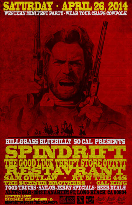 WESTERN MINI FEST PARTY FEAT. SPINDRIFT, THE GOOD LUCK THRIFT STORE OUTFIT, RESTAVRANT, SAM OUTLAW, RT N THE 44S, THE SUMNER BROTHERS, & CAL KING