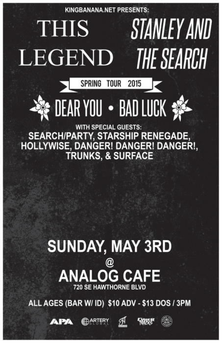 STANLEY AND THE SEARCH/THIS LEGEND (feat members of YELLOWCARD)